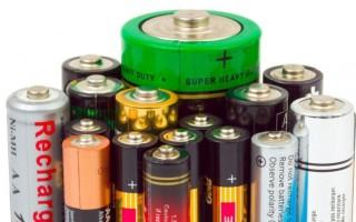 Виды батареек и их характеристики