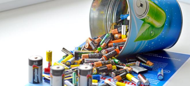 Переработка использованных батареек