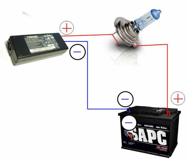 Как зарядить аккумулятор без зарядного