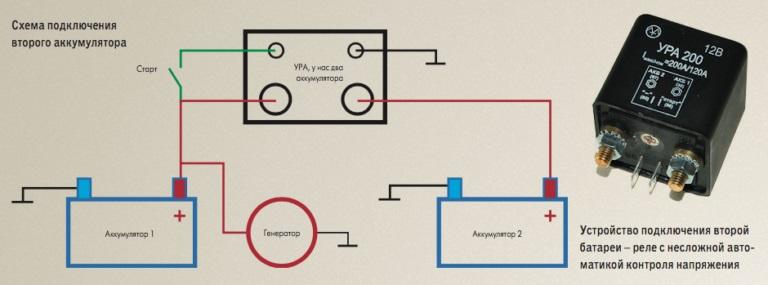 установка второго аккумулятора в машину схема подключения
